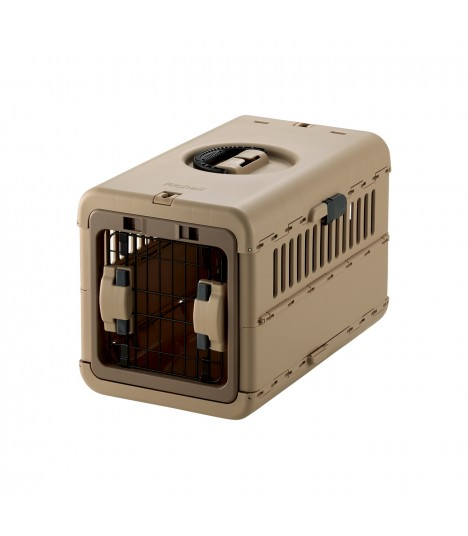 Richell Foldable Brown Pet Carrier S