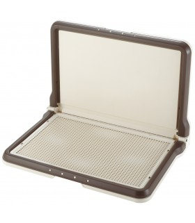 Richell L-Shape Wide Brown Pee Tray