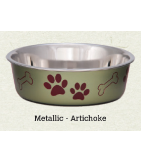 Loving Pets Bella Metallic Artichoke Bowl
