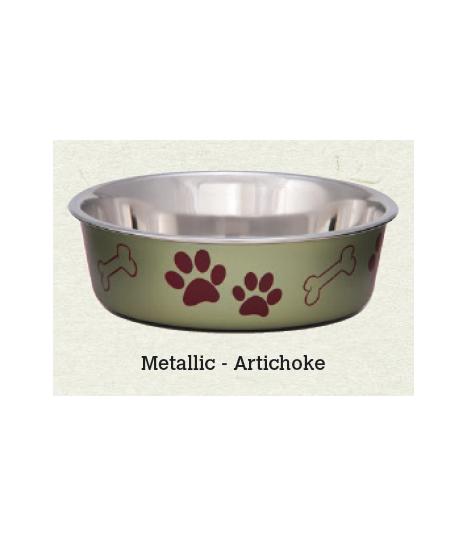 Loving Pets Bella Metallic Artichoke Bowl