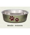 Loving Pets Bella Metallic Bowl