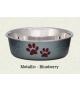 Loving Pets Bella Metallic Blueberry Bowl