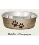 Loving Pets Bella Metallic Champagne Bowl