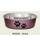 Loving Pets Bella Metallic Grape Bowl
