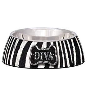 Loving Pets Milano Bowls Diva Zebra