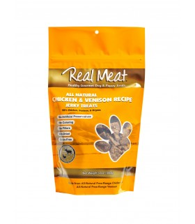 Real Meat Chicken & Venison Jerky for Dog 4oz