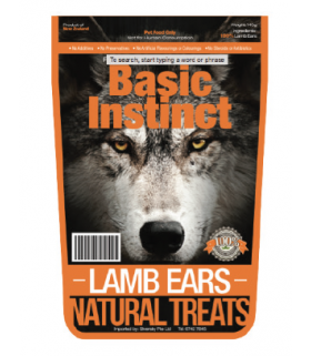Basic Instinct Lamb Ears 140g