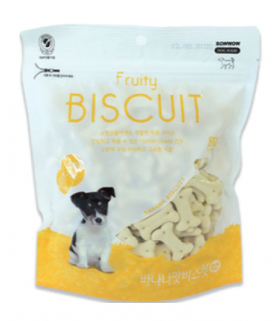 Bow Wow Fruity Biscuit - Banana 220g