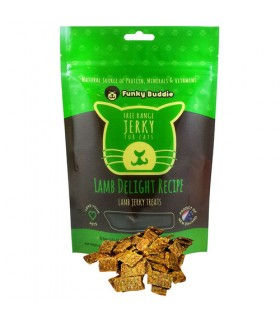Funky Buddie Lamb Delight Jerky for Cat 4oz