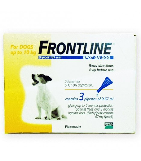 Frontline Spot on for Dogs up to 10kg