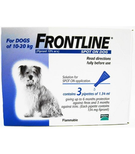 frontline for puppies. Frontline Spot On For Dogs Up To 10-20 Kg Puppies