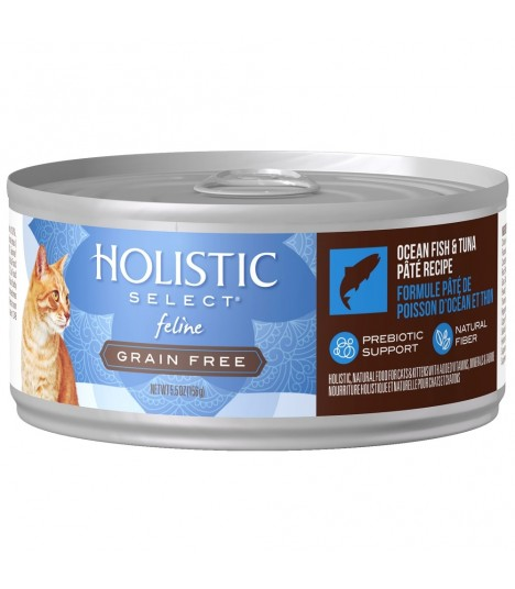 Holistic Select Grain Free Ocean Fish & Tuna Pate 5.5oz