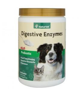 NaturVet Digestive Enzymes Plus Probiotics 8oz