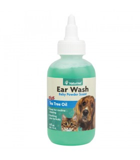 NaturVet Ear Wash with Tea Tree Oil 4oz