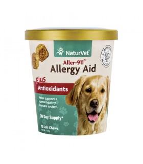 NaturVet Aller-911 Allergy Aid Plus Antioxidants Soft Chew Cup