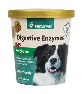 NaturVet Digestive Chew Enzymes Plus Probiotic