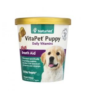 NaturVet VitaPet Puppy Plus Breath Aid