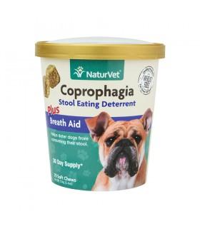 NaturVet Coprophagia Stool Eating Deterrent Plus Breath Aid Soft Chews