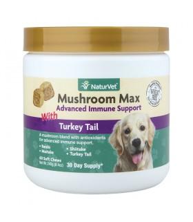 NaturVet Mushroom Max with Turkey Tail 60 Soft Chews
