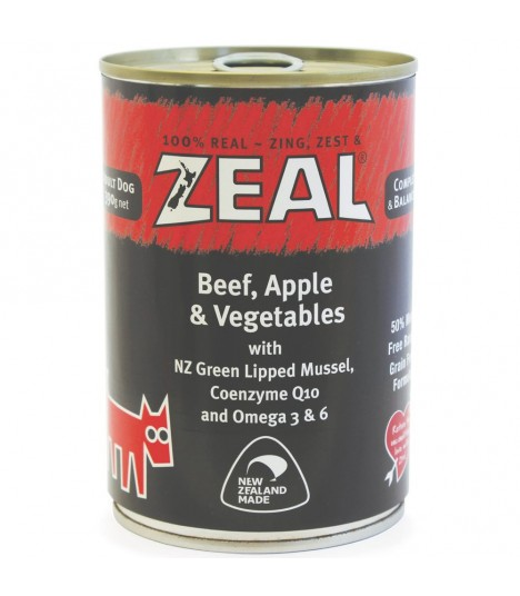 Zeal Grain Free Beef, Apple & Vegetables Canned Food for Dog 390g
