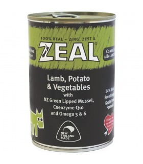 Zeal Grain Free Lamb, Potato & Vegetables Canned Food for Dog 390g