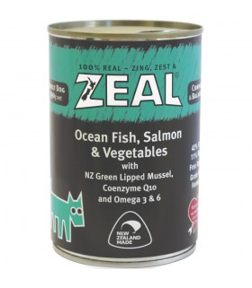 Zeal Grain Free Ocean Fish, Salmon & Vegetables Canned Food for Dog 390g