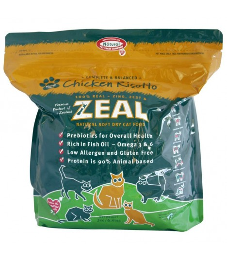 Zeal 3 Chicken Risotto Soft Dry Cat Food 1.5kg