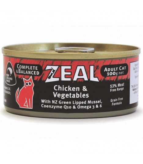 Zeal Grain Free Chicken & Vegetables Canned Food for Cat 100g