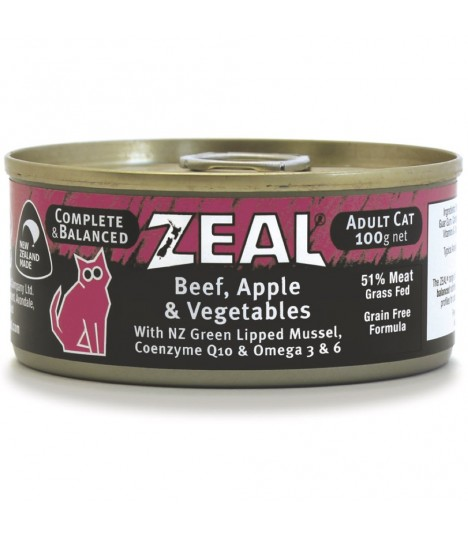 Zeal Grain Free Beef, Apple & Vegetables Canned Food for Cat 100g