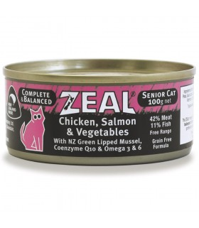 Zeal Grain Free Chicken, Salmon & Vegetables Canned Food for Senior Cat 100g