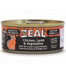 Zeal Grain Free Chicken, Lamb & Vegetables Canned Food for Kitten 100g
