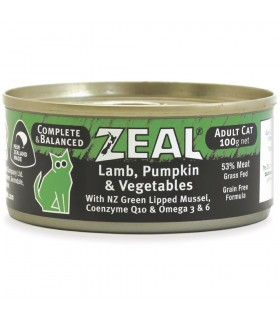 Zeal Grain Free Lamb, Pumpkin & Vegetables Canned Food for Cat 100g