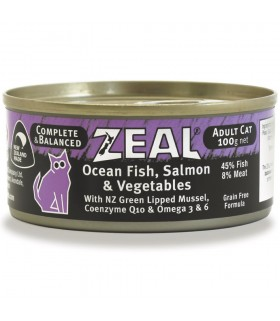 Zeal Grain Free Ocean Fish, Salmon & Vegetables Canned Food for Cat 100g