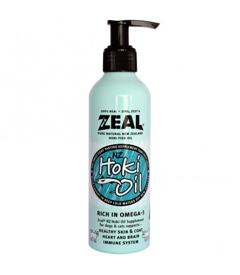 Zeal Hoki Fish Oil Supplement for Dogs & Cats 220ml