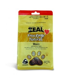 Zeal Free Range Calf Tails Wags 125g
