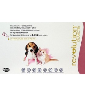 Revolution for Puppies and Kittens less than 2.5kg (3 tubes)