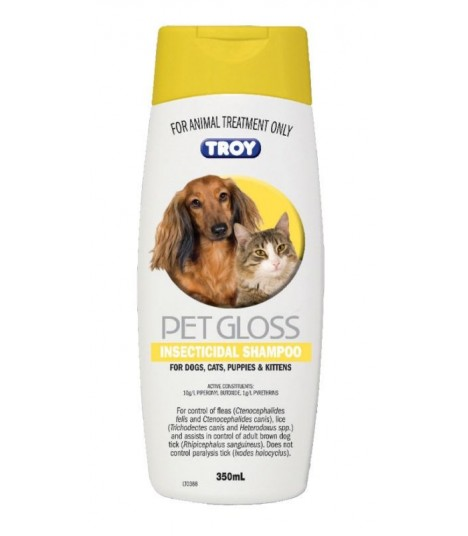 Troy PetGloss Insecticidal Shampoo 350ml
