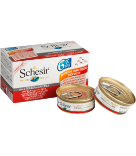 Schesir Chicken with Duck Multipacks 6 x 50g