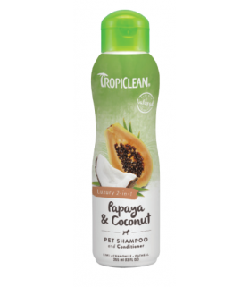 Tropiclean Papaya & Coconut 2-in-1 Shampoo