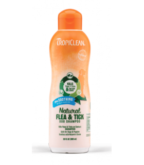 Tropiclean Natural Flea & Tick Shampoo, Plus Soothing 20oz
