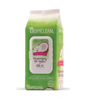 Tropiclean Deep Cleaning Wipes for Pets 100ct
