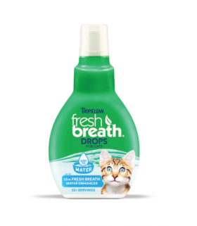 Tropiclean Fresh Breath Drops For Cats 2.2oz