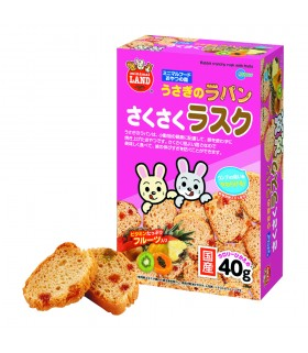 Marukan Rabbit Crunchy Rusk with Fruits 40g