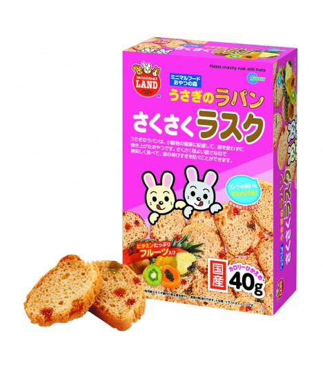 Marukan Rabbit Crunchy Rusk with Fruits 40g
