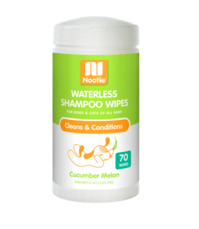 Nootie Waterless Shampoo Wipes Cucumber Melon 70wipes for Dogs & Cats