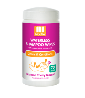 Nootie Waterless Shampoo Wipes Japanese Cherry Blossom 70wipes for Dogs & Cats