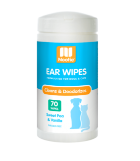 Nootie Ear Wipes Sweet Pea & Vanilla 70wipes for Dogs & Cats