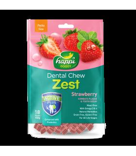 Happi Doggy Dental Chew Zest Strawberry