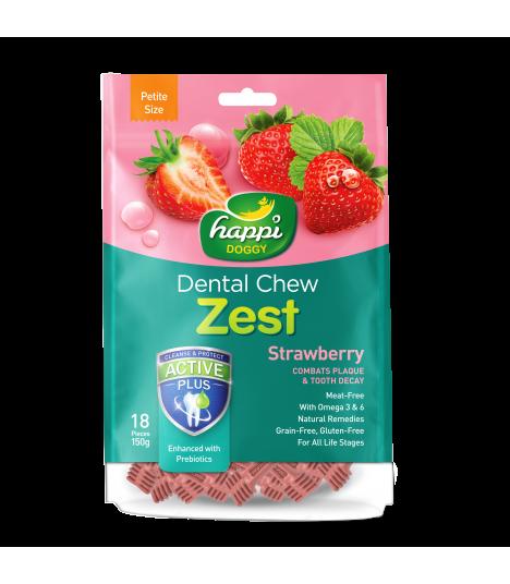 Happi Doggy Dental Chew Zest Strawberry 150g