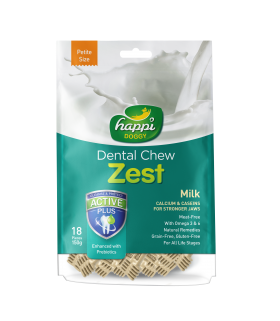 Happi Doggy Dental Chew Zest Milk